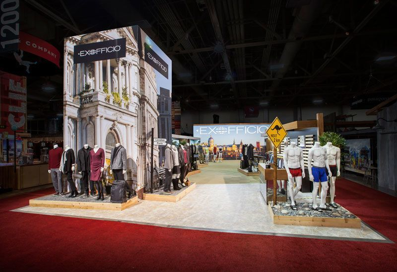 Trade Show Booth Ideas ExOfficio 4