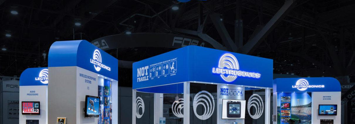 Lectrosonics trade show booth by mackenzie EXHIBIT
