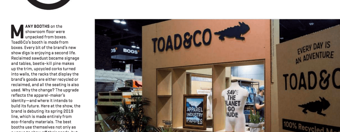 Toad&Co ORSM 2018 Article